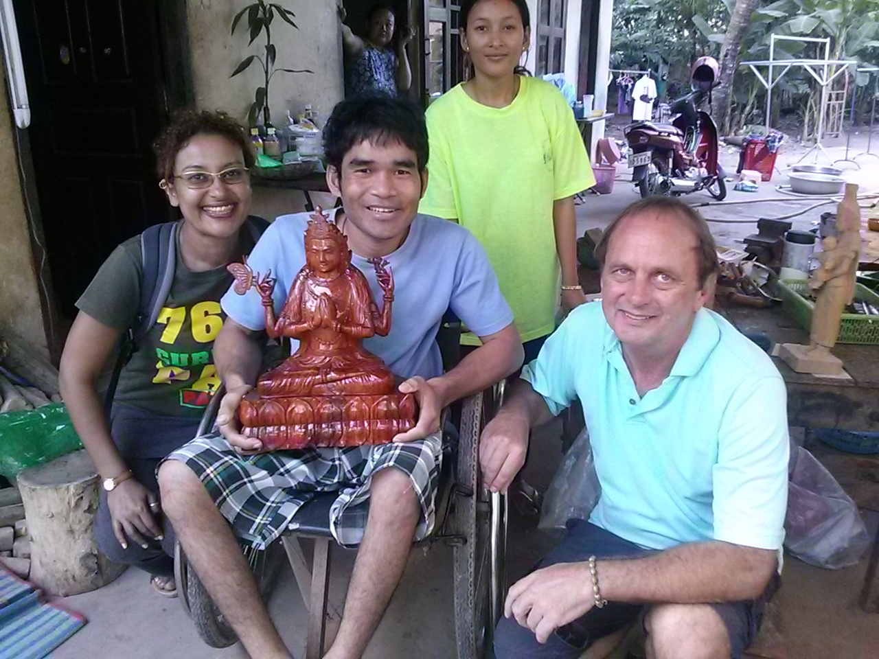 Jean du Plessis (spiritual teacher) in Cambodia with family